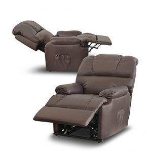 Sillon de masaje reclinable conreposapies