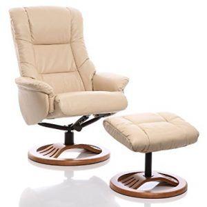 Sillon reclinable y giratorio con reposapies