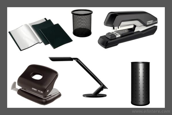 Material de Oficina en negro